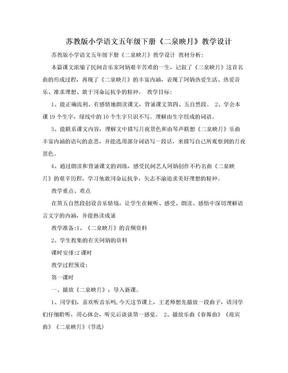 苏教版小学语文五年级下册《二泉映月》教学设计.doc