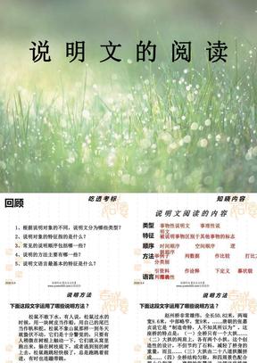 中考说明文阅读复习ppt课件【语文公社】.ppt