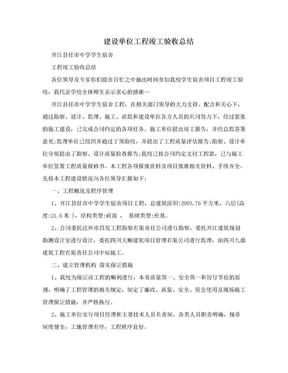 建设单位工程竣工验收总结.doc