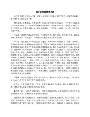 电子商务实习报告总结.docx