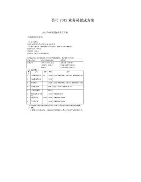 公司2012业务员提成方案.doc