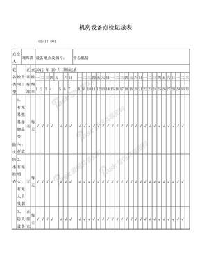 机房点检记录表.doc