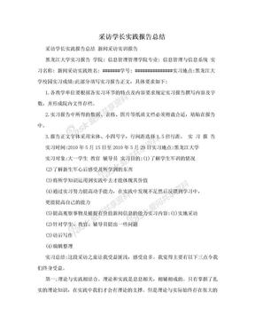 采访学长实践报告总结.doc