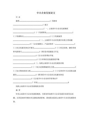 中小企业发展论文.doc
