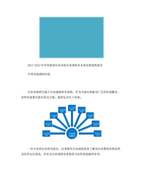 中国装修行业调查报告目录.doc