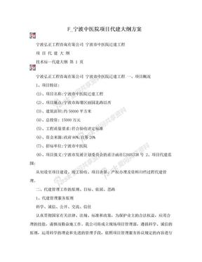F_宁波中医院项目代建大纲方案.doc