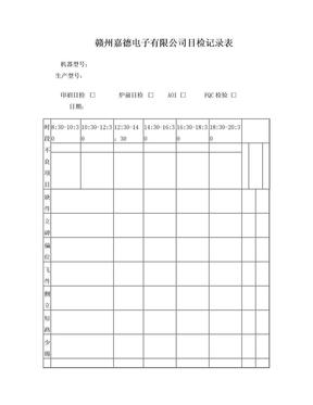 SMT目检记录表.doc