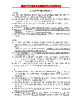 人教版初三化学知识点复习总结.doc