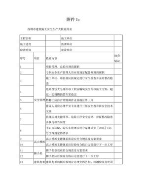 深圳市建筑施工安全生产大检查用表.doc