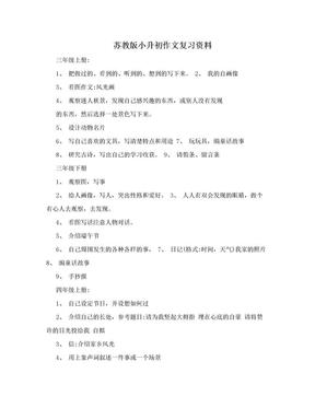 苏教版小升初作文复习资料.doc