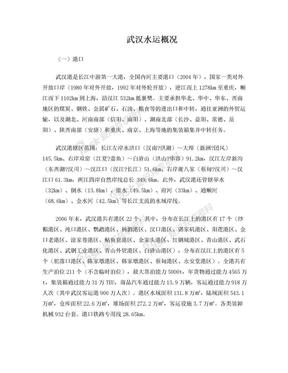 武汉水运概况.doc