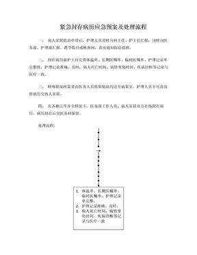 紧急封存病历应急预案及处理流程.doc
