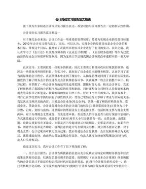 会计岗位实习报告范文精选.docx