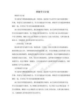班级学习计划.doc