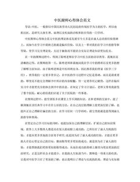 中医跟师心得体会范文.doc