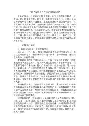 双师培训总结.doc