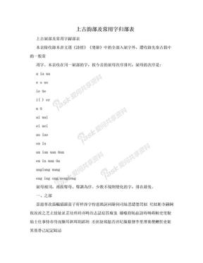 上古韵部及常用字归部表.doc