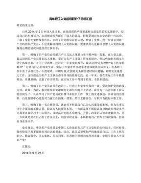 青年职工入党前极积分子思想汇报.docx