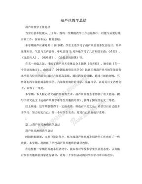 葫芦丝教学总结.doc