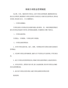 企业财政专项资金管理办法.doc