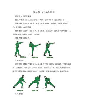 军体拳16式动作图解.doc