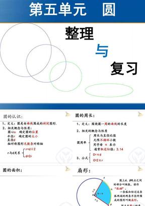人教版六年级上册数学第五单元圆—整理与复习优秀课件.ppt