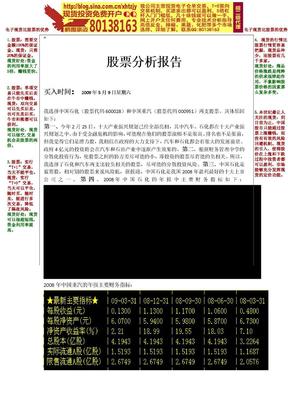 会计股票分析报告.doc