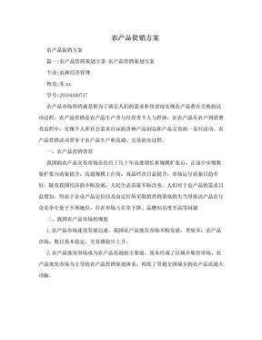 农产品促销方案.doc