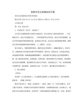 初初中语文基础知识手册.doc