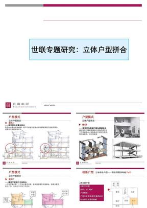 世联专题研究:立体户型拼合.ppt