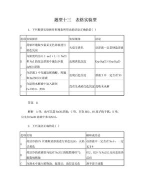 高中化学选择题专练 题型十三.doc