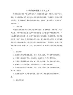 小学开展寒假家访活动方案.doc