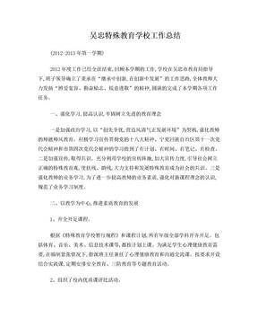 吴忠特殊教育学校年度工作总结 (4500字).doc