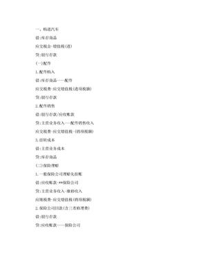 宝典4S店汽车销售会计账务处理流程.doc