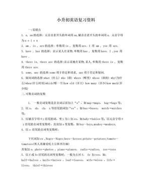 小学六年级英语总复习资料(各版本通用).doc