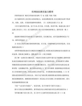 经理岗位胜任能力模型.doc