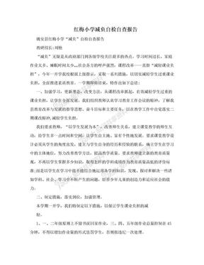 红梅小学减负自检自查报告.doc