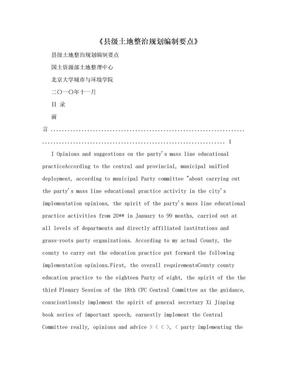 《县级土地整治规划编制要点》.doc
