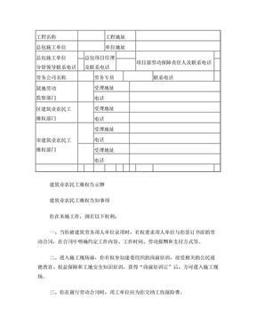 建筑业农民工维权告示牌.doc