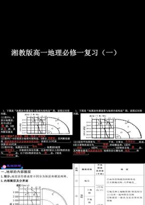 湘教版高一地理必修一复习(一).ppt
