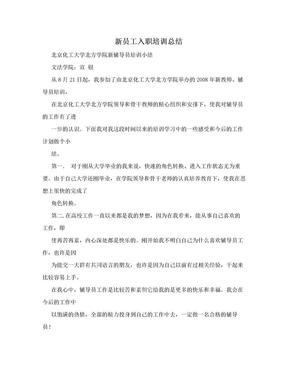 新员工入职培训总结.doc