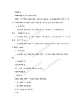公司注销清算报告.doc