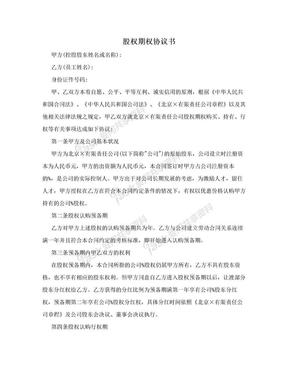 股权期权协议书.doc