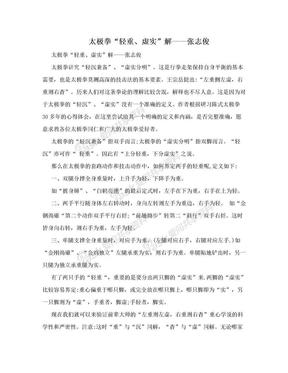 """太极拳""""轻重、虚实""""解——张志俊.doc"""