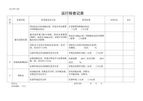 设备运行检查记录(低压开关柜).doc