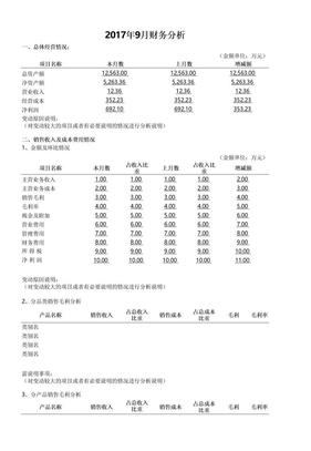 月度财务分析报告.xls