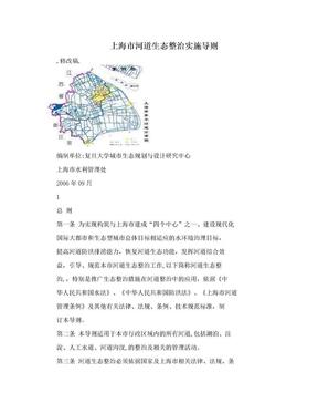 上海市河道生态整治实施导则.doc