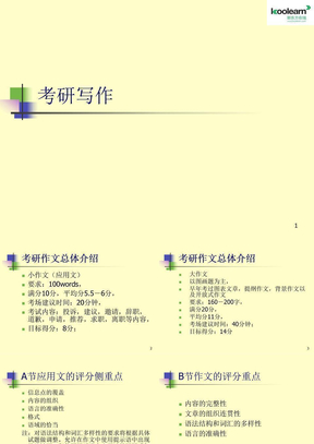 2012考研英语写作--考研英语写作课课程.ppt
