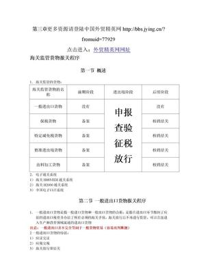 报关员考试 第三章 海关监管货物报关程序(79-100).doc