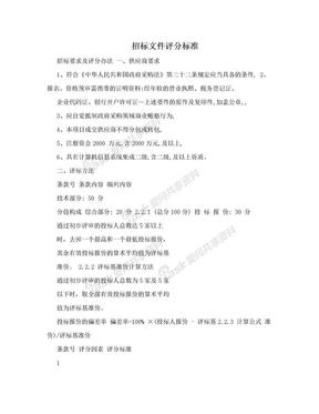 招标文件评分标准.doc